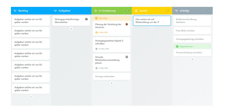 Board Digitales Projektmanagement