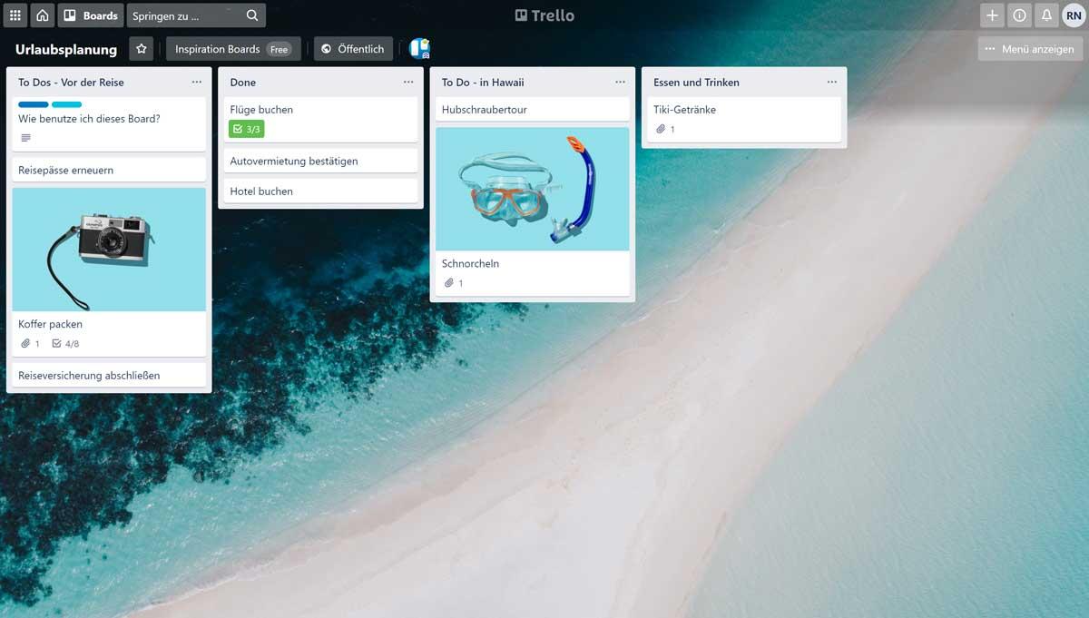 Digitale Urlaubsplanung mit Trello